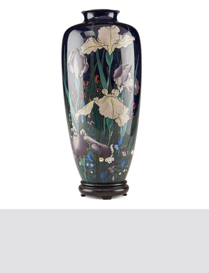 Japanese Silver and Cloisonne vase